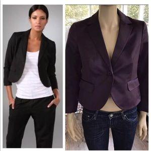Theory Purple Kamalie Gemstone Cropped Blazer 8